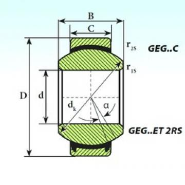 ISB GEG 260 ET 2RS plain bearings