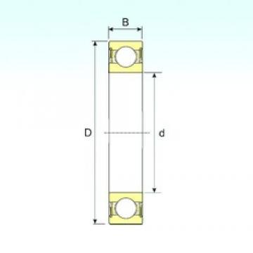 ISB 6317-2RS deep groove ball bearings