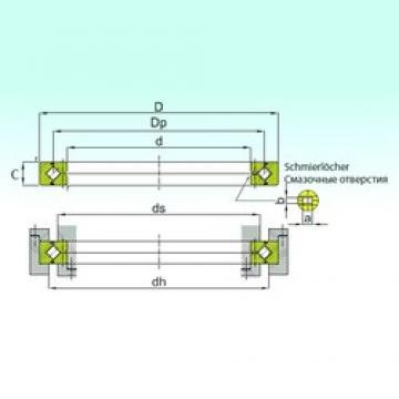 ISB RE 24025 thrust roller bearings