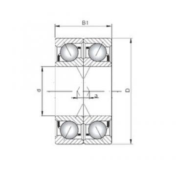 ISO 71910 CDF angular contact ball bearings
