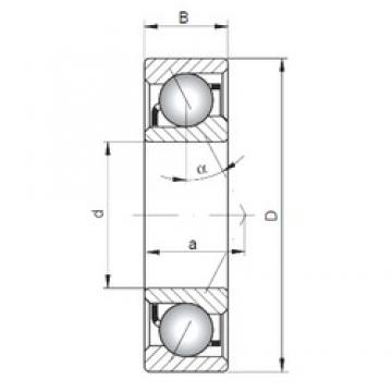ISO 7216 A angular contact ball bearings