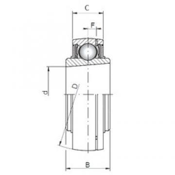 ISO UK207 deep groove ball bearings