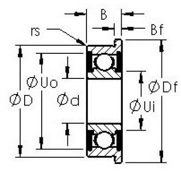 AST F624H-2RS deep groove ball bearings