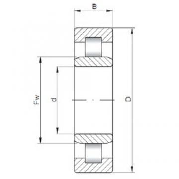ISO NU2312 cylindrical roller bearings