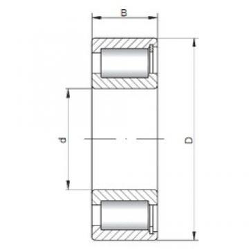 ISO NCF2204 V cylindrical roller bearings
