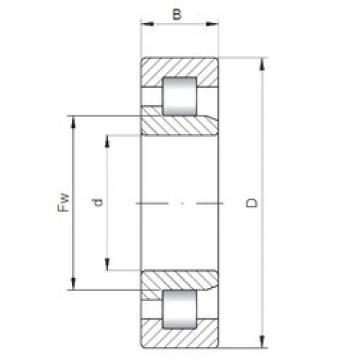 ISO NJ3317 cylindrical roller bearings