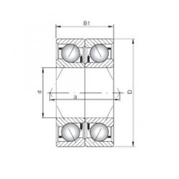 ISO 7210 BDB angular contact ball bearings
