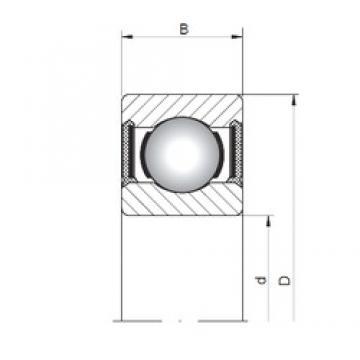 ISO 617/5-2RS deep groove ball bearings