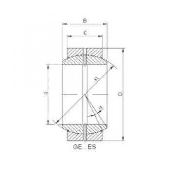 ISO GE 020 XES plain bearings