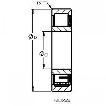 AST NU2338 EM6 cylindrical roller bearings