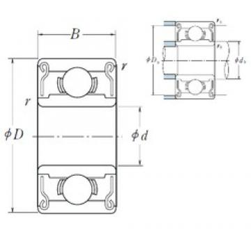 ISO 606ZZ deep groove ball bearings