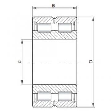 ISO NNCL4956 V cylindrical roller bearings