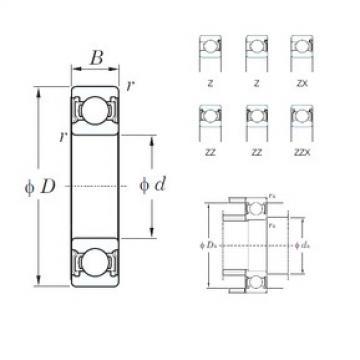 KOYO 6312ZZ deep groove ball bearings