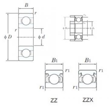 KOYO 624ZZ deep groove ball bearings