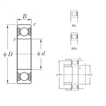 KOYO 6304-2RU deep groove ball bearings