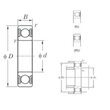 KOYO 6906-2RU deep groove ball bearings
