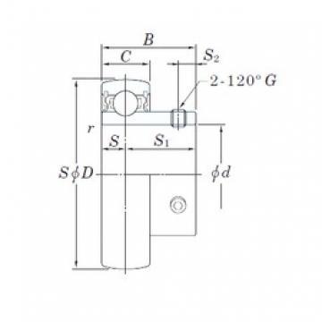 KOYO SU001 deep groove ball bearings