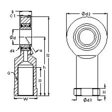AST SIZJ11 plain bearings