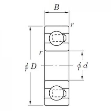 KOYO 3NC627ST4 deep groove ball bearings
