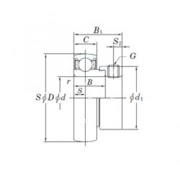 KOYO SA206-20 deep groove ball bearings