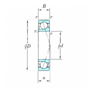 KOYO 7202CPA angular contact ball bearings