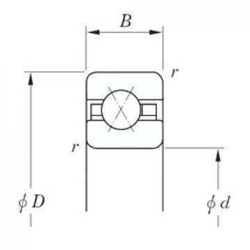 KOYO KBX047 angular contact ball bearings