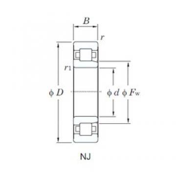 KOYO NJ2308R cylindrical roller bearings