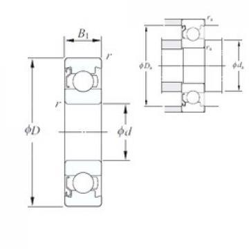 KOYO 686/1BZ deep groove ball bearings