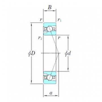 KOYO 3NCHAD022CA angular contact ball bearings