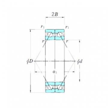 KOYO ACT013DB angular contact ball bearings