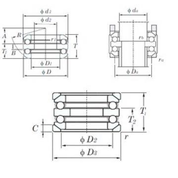 KOYO 54413U thrust ball bearings