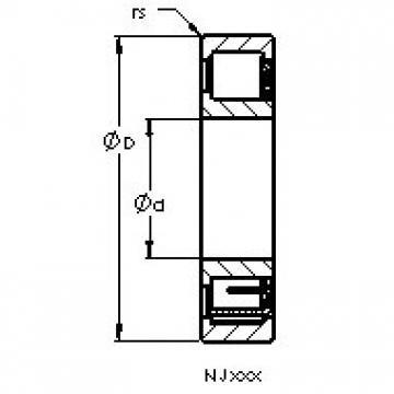 AST NJ340 M cylindrical roller bearings