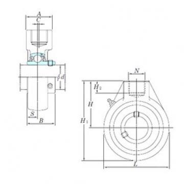 KOYO UCHA206 bearing units