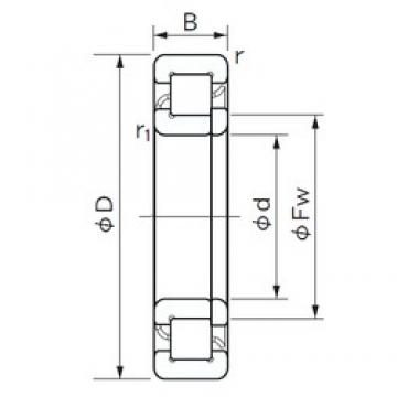 NACHI NUP 10/500 cylindrical roller bearings