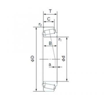 NACHI 67388/67322 tapered roller bearings