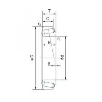 NACHI M12648/M12610 tapered roller bearings