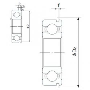 NACHI 6818NR deep groove ball bearings