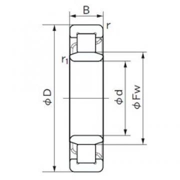 NACHI NU 409 cylindrical roller bearings
