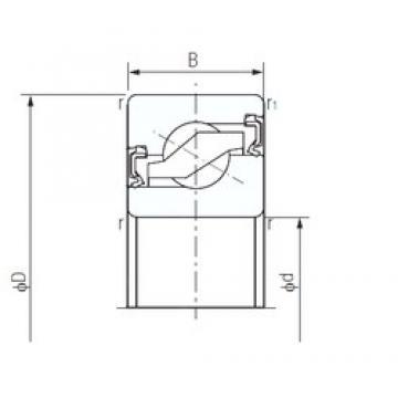 NACHI 25TAB06-2LR thrust ball bearings