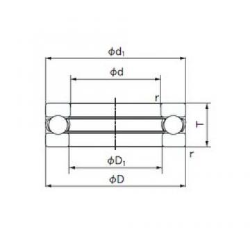 NACHI 51215 thrust ball bearings