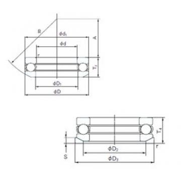 NACHI 53417U thrust ball bearings