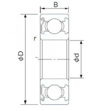 NACHI 62/22ZE deep groove ball bearings
