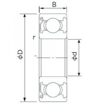 NACHI 6912Z deep groove ball bearings