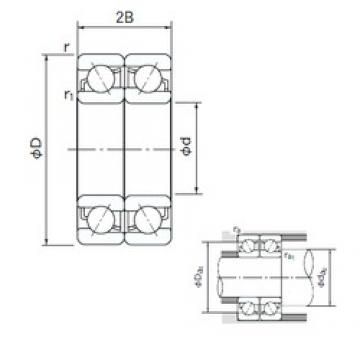 NACHI 7318CDF angular contact ball bearings
