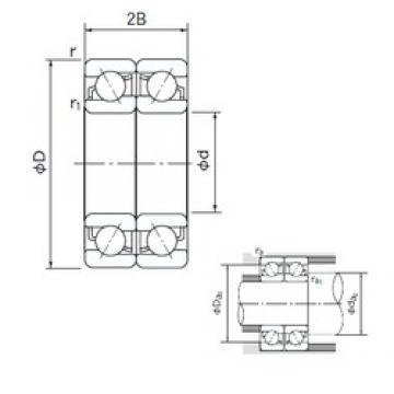 NACHI 7334DF angular contact ball bearings