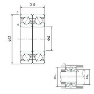 NACHI 7300DB angular contact ball bearings