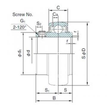 NACHI MUC204 deep groove ball bearings