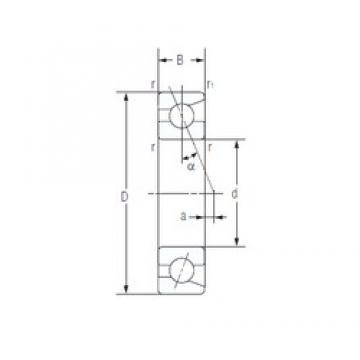 NACHI 7006C angular contact ball bearings
