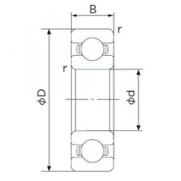 NACHI 6900 deep groove ball bearings