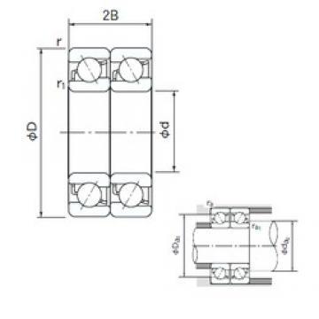 NACHI 7006DT angular contact ball bearings